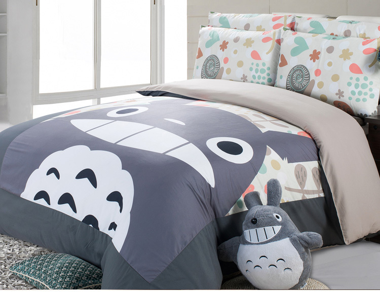 Good Quailty 100 Cotton Korean Style Totoro Bed Set Bed