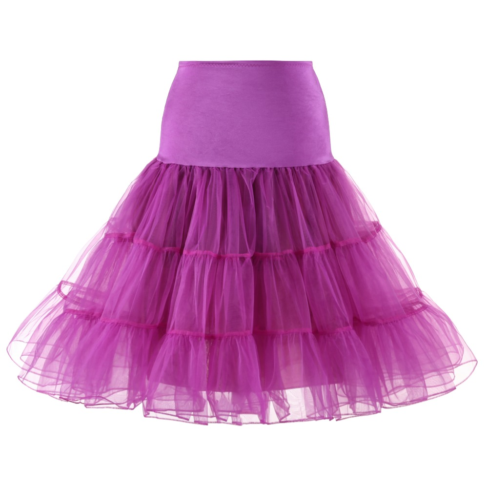 b9b2e824f00d6 Tutu Skirt swing Rockabilly Petticoat Underskirt fluffy pettiskirt for  Wedding Bridal Vintage 50s Audrey hepburn Women Ball Gown-in Half Slips  from ...