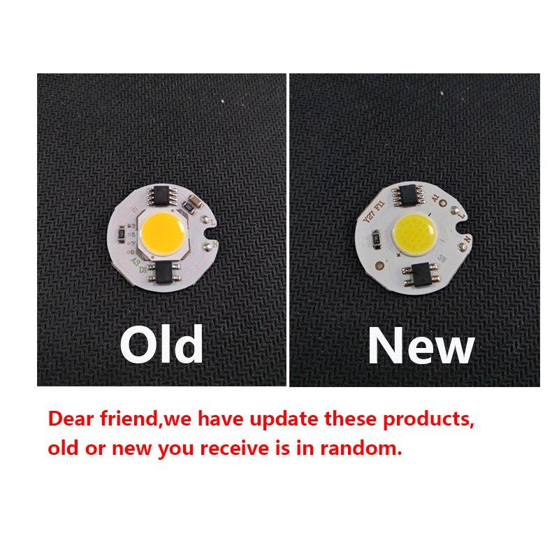 5pcs lot LED COB Chip 12W 9W 7W 5W 3W 220V Input Smart IC White WarmWhite light beads for DIY Spotlight Floodlight track lamp in Light Beads from Lights Lighting