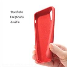 Original Logo Silicone Case For iPhone 7 8 XS Phone Case For iPhone X XR XS Max Cover For iPhone 6 6S Plus Case Funda Coque