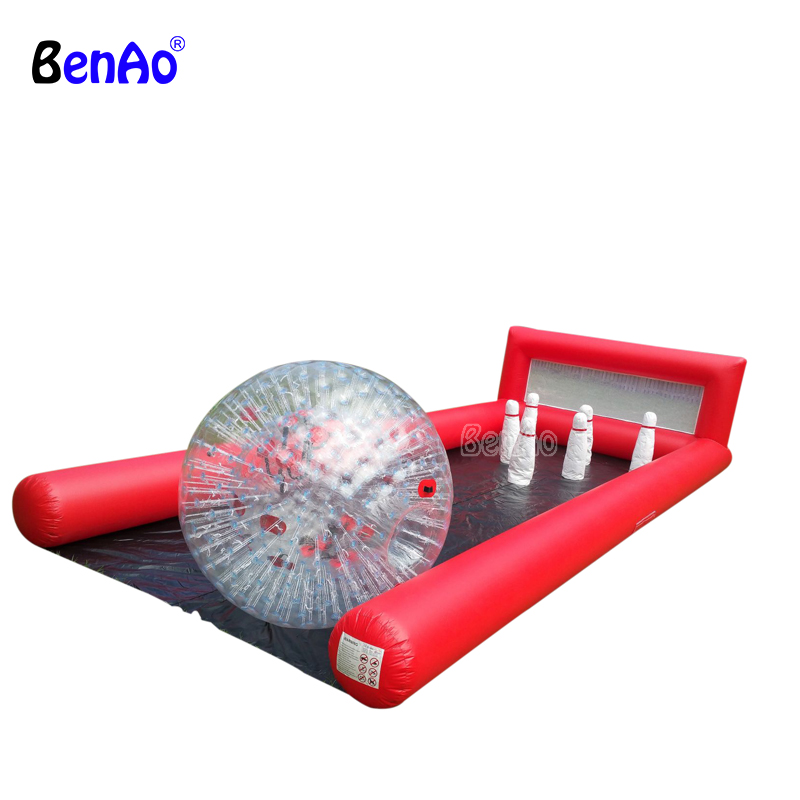 S390 Inflatable human bowling game,lane game giant inflatable bowling set game outdoor giant bowling game