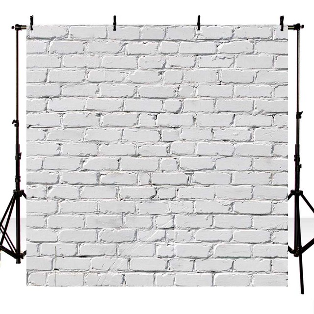 5x7ft Thin Vinyl Photography Backdrop Background White Brick Wall Photo Backdrops For Studio F 1465