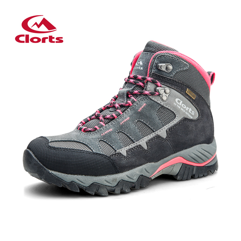 2018 Clorts Womens Hiking Boots Outdoor Waterproof Climbing Shoes Suede Leather Sport Shoes For Women Free Shipping HKM-823E clorts women hiking shoes outdoor trekking shoes waterproof lace up mountain shoes suede leather female climbing shoes hkl 826e