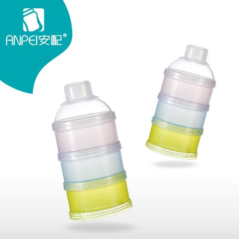 Baby Feeding Milk Powder Food Bottle Container 3 Layer Grid Box Solid Portable Infant Storage Dispenser Storage Bins For Travel