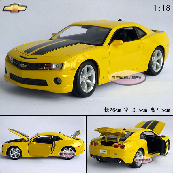 New Yellow 1:18 Chevrolet Bumblebee Camaro Roadster Sports