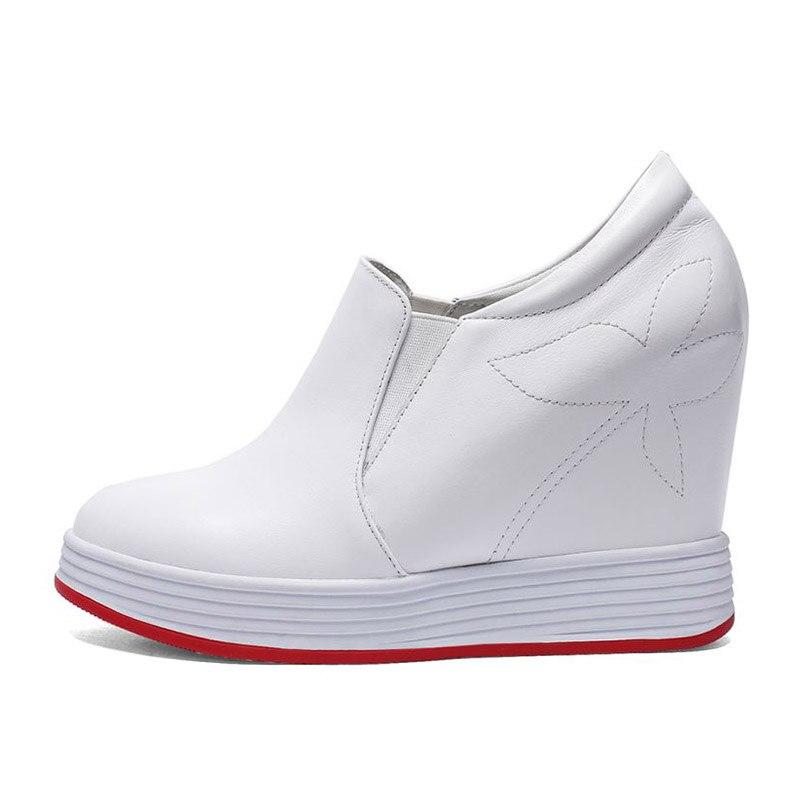 RAZAMAZA 高品質の女性は本革交差高さの靴ラウンドトウ中空女性靴のサイズ 32 40  グループ上の 靴 からの レディースパンプス の中 2