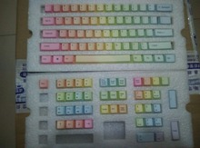 87 dye rainbow PBT keycap multi color mechanical keyboard 104 ANSI cherry mx rainbow 87 keycaps shine top print gaming