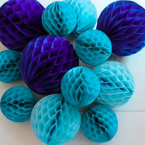 5pc 6inch 15cm Tissue Paper Honeycomb Ball Decorations for Birthday Party Baby Shower Wedding Aniversary Home Space Decor
