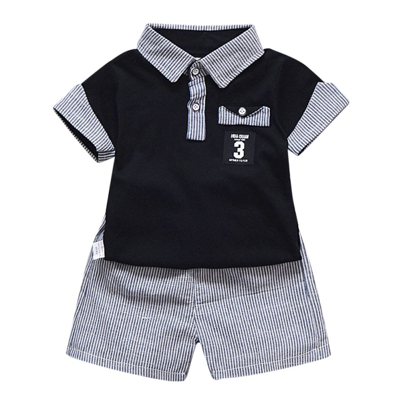 WEIXINBUY 2PCS Summer Baby Clothing Set For Boys Casual Wear Kids Clothes T-shirt +Short Set Cartoon Baby Suit