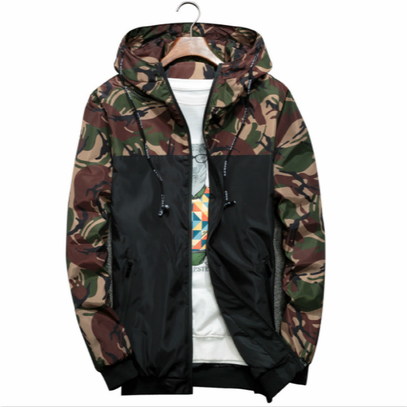 Men Camouflage Coat Mens jackets and Hoodies men's casual male streetwear Jacket man Clothing Windbreaker Coats Outwear