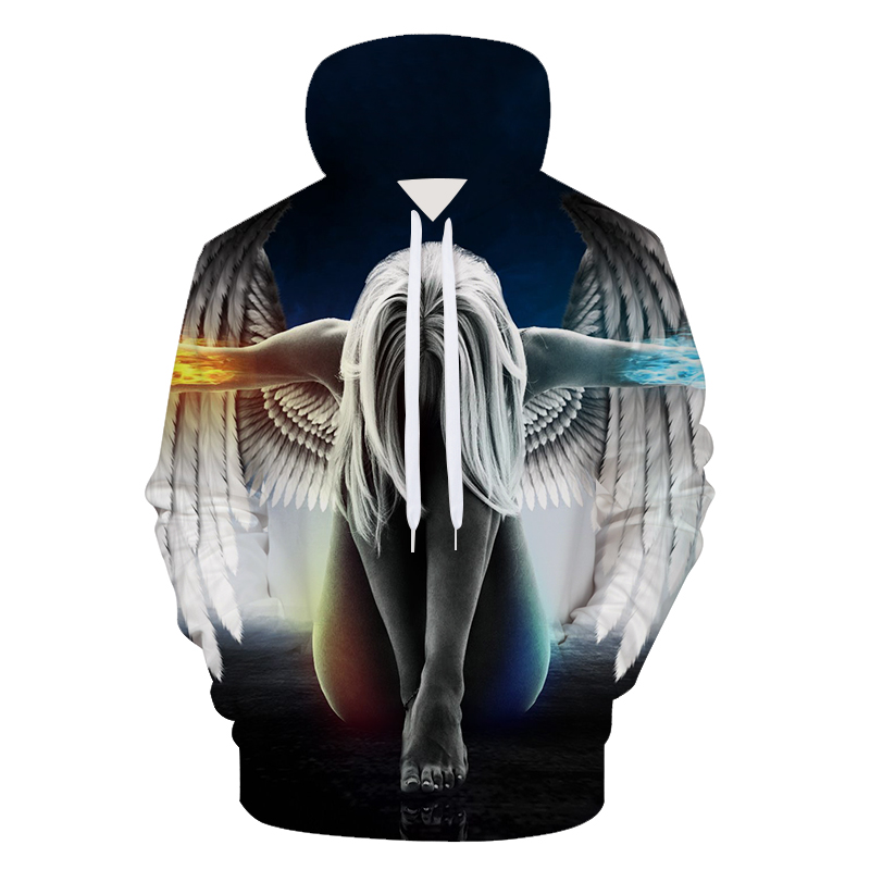 2018 New 3D Angle Hoodies Men Fashion Autumn Winter Streetwear Hip Hop Men Hoodie Casual Sweatshirt Tracksuit Brand Sweat Hood