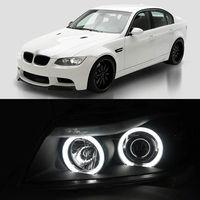 Dual CCFL Angel Eye Bi Xenon Projector Lens Headlight Light For BMW E90 320i 318