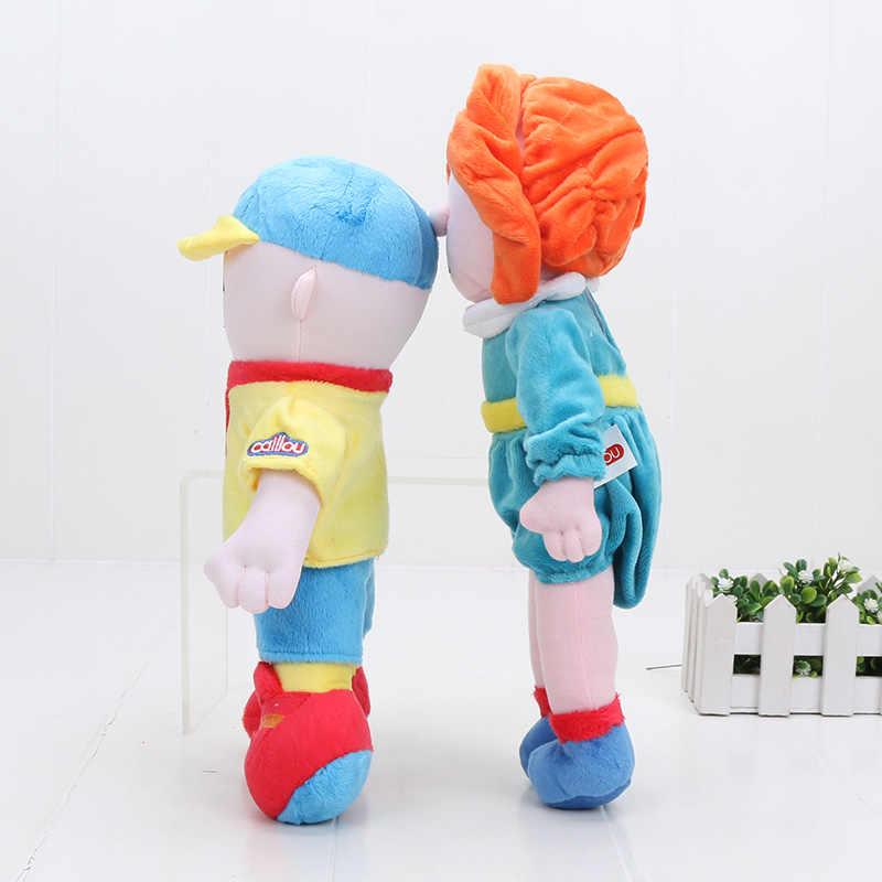 Americano Dos Desenhos Animados Irmã Caillou Rosie Caillou Plush Toy Stuffed Boneca Brinquedos Presente para As Crianças 29-32 cm