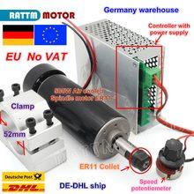 Moteur de broche ER11 mandrin CNC 500W + alimentation électrique, régulateur de vitesse, pour routeur CNC bricolage, 0,5 kw refroidi à Air, livraison en ue