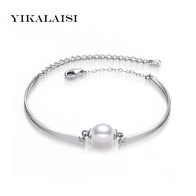 YIKALAISI 2017 Charm Bracelet Bangles Pearl Jewelry 100% Natural Pearl Bracelets 925 Sterling Silver Jewelry Bracelet For Women puzzle 1000 восточные пряности кб1000 6829