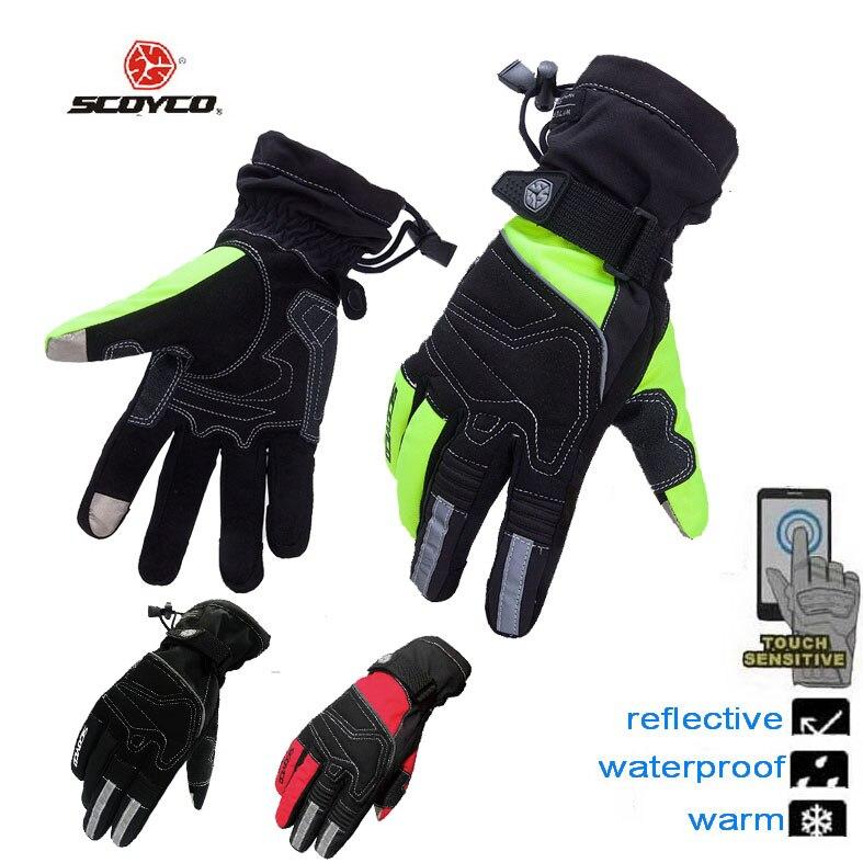 SCOYCO MC30 Oxford tissu moto gants de moto, chaud imperméable à l'eau de course moto moto rbik moto cross complet doigt gants