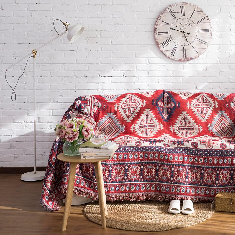 Baumwolle mit Fransen Vintage Babydecke wirft auf Sofa / Bett / - Haustextilien - Foto 3