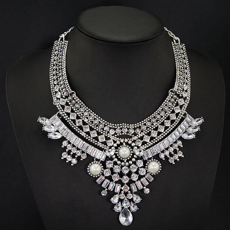 2016 New Fashion Design Bridal Jewelry Vintage Neck Bib ...