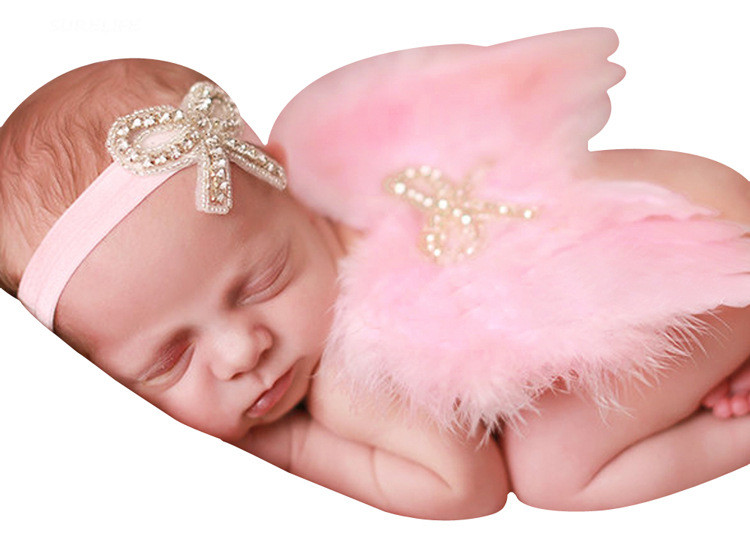 1PCS Baby Feather Fairy Angel Wings Photography Props Costume Party Decor 6-18 Months