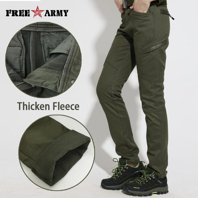 2016 New Winter Thicken Cotton Women's Fleece Pants Fashion Velvet Pants Military Multi-pocket Camouflage Trousers GK-9302