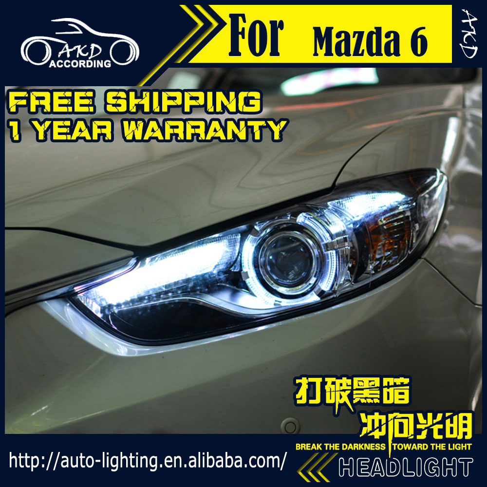 AKD Car Styling for Mazda 6 Headlights Mazda6 Atenza LED Headlight