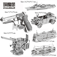 Berkualiti tinggi MIni Silver Beretta 92 SUV Series Metal Puzzle 3D Laser Cut Model Jigsaw DIY Adult Child Educational Decoration Toy
