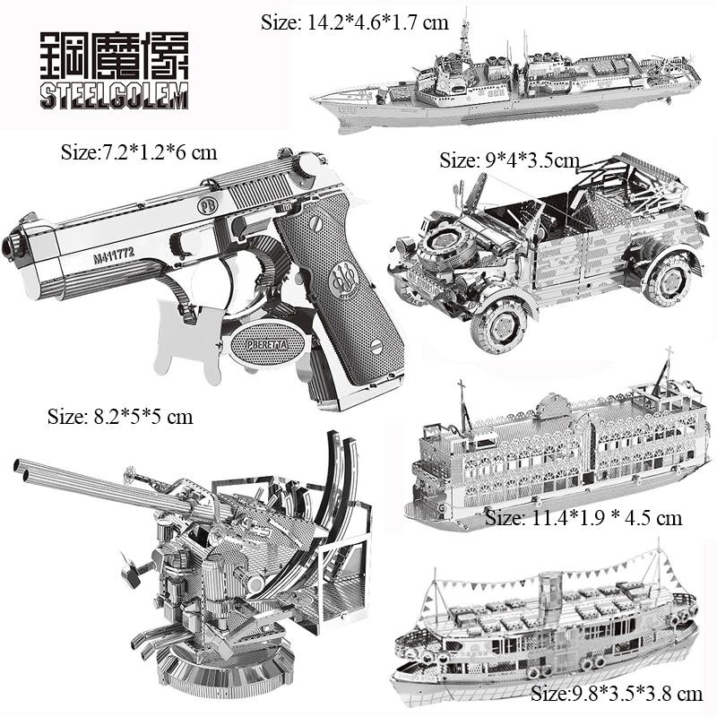 3D Metal Puzzles Model Multi style DIY Laser Cut Manual