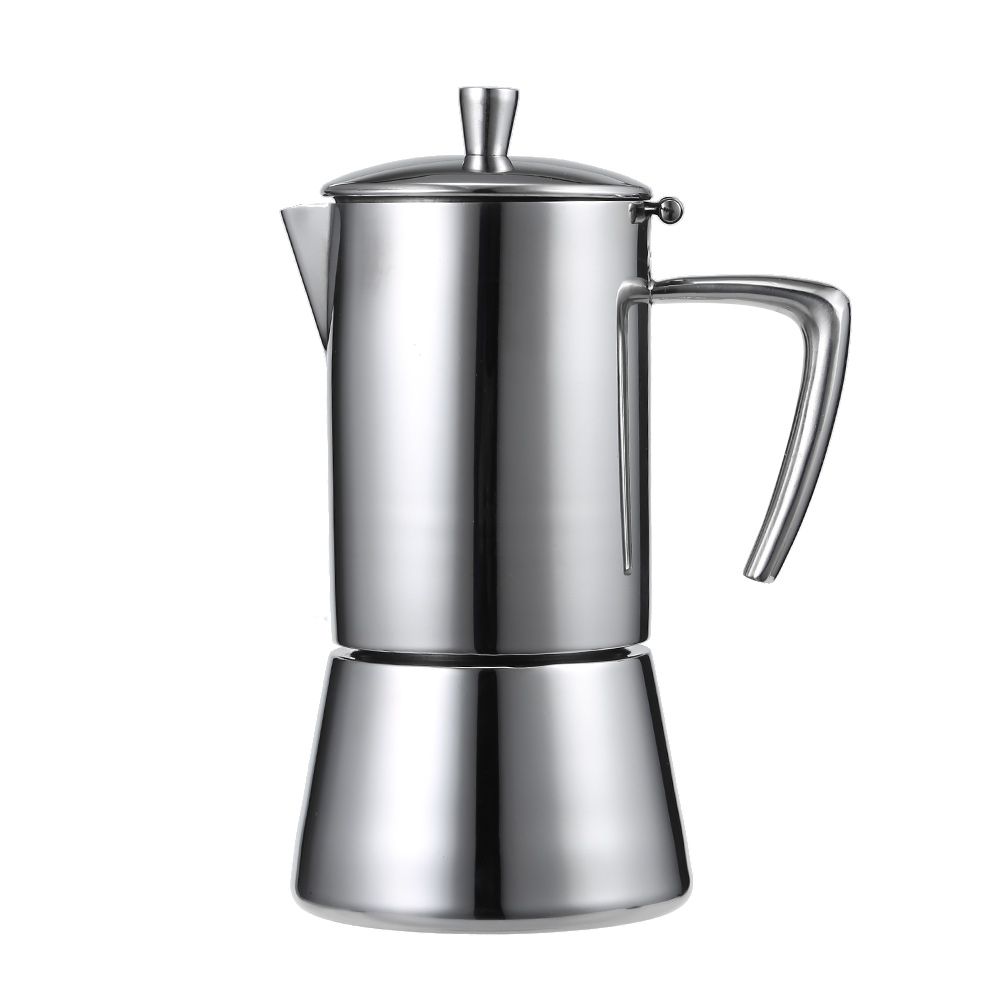 FIMEI 200ml 4 People Cups Coffee Maker Pot Stainless Steel Stove Mocha Coffee Maker Pot Espresso Coffee Maker цены