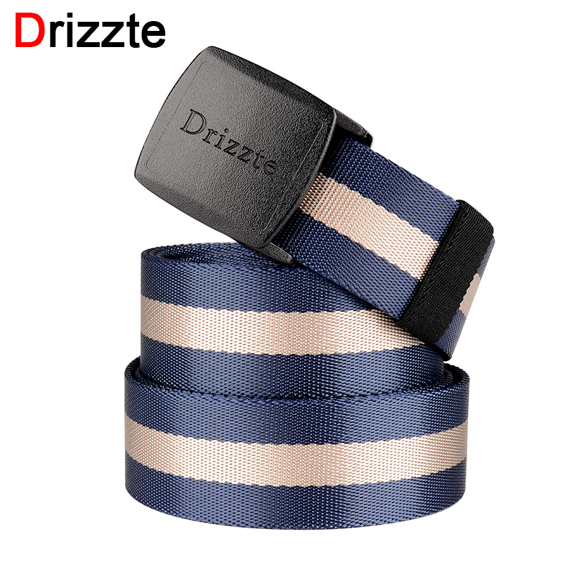 Smart Drizzte Mens Big Tall Nylon Web Belt 120-180cm Tactical Ykk Pom Plastic Buckle 47 To 71inch Duty Belt Plus Size Navy Blue Stripe To Have A Unique National Style Apparel Accessories