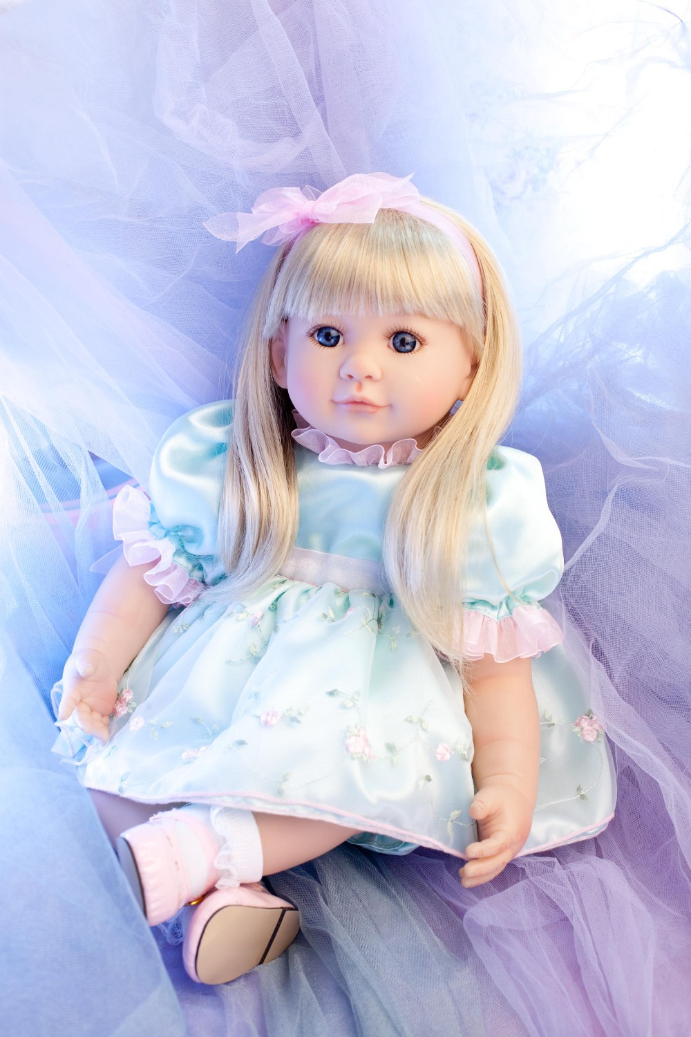 50cm Silicone reborn baby dolls toy lifelike 20inch princess   toddler  doll  brinquedos christmas present birthday gifts silicone reborn toddler baby doll toys for girl 52cm lifelike princess dolls play house toy birthday christmas gift brinquedods