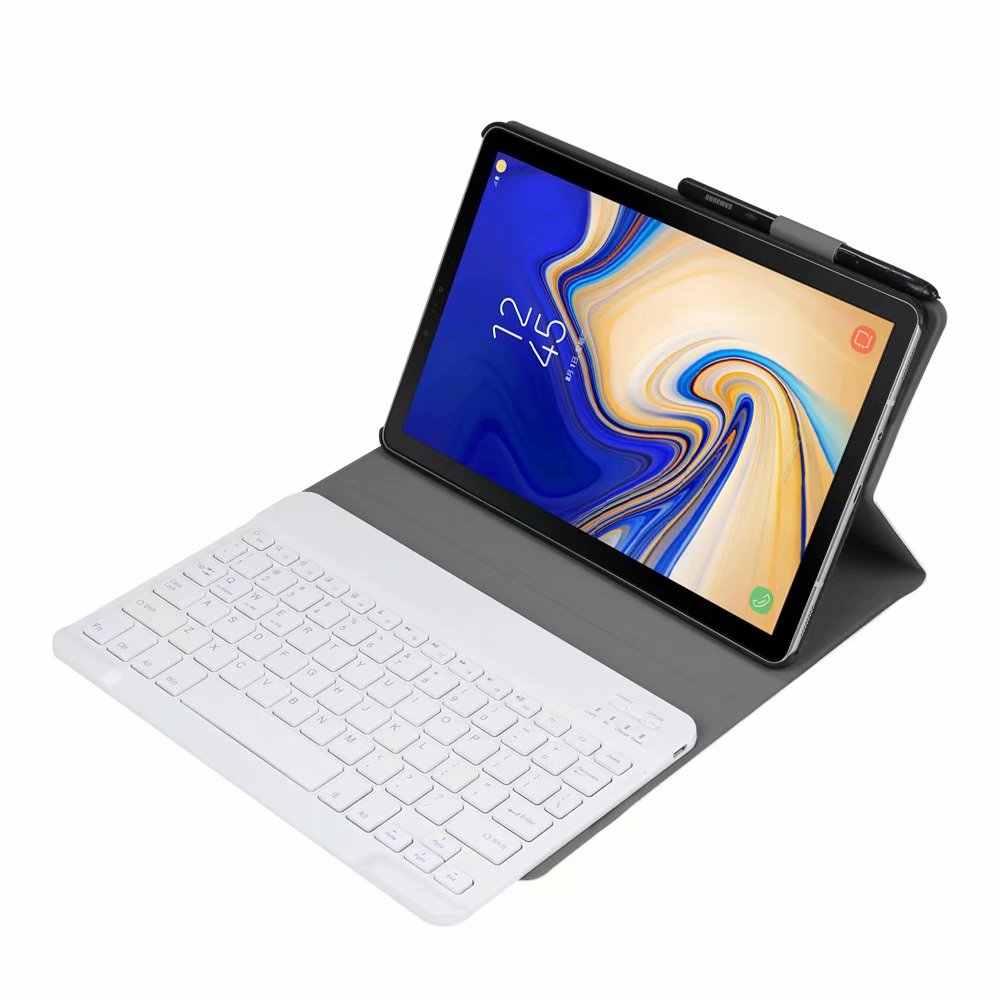 """Планшет Bluetooth клавиатура для 2018 samsung Galaxy Tab A 10,5 """"SM T590 T595 T597 Bluetooth Обложка Flip Стенд защитный чехол"""