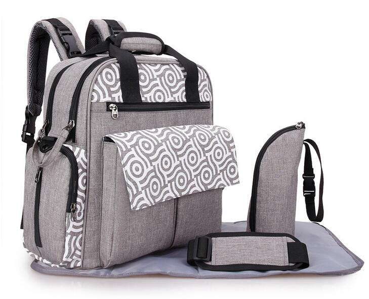 Designer mother baby diaper bag backpack bags waterproof changing mummy maternity nappy bag for stroller accessories organizer 2018 new organizer mother baby handbags diaper bag maternity bags for baby stroller bag mummy nappy changing backpack