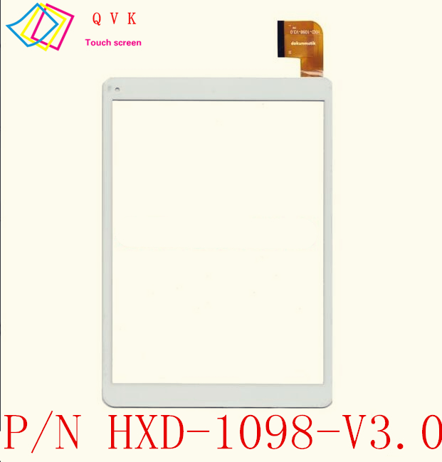 White 9.7 Inch for ARCHOS 97C PLATINUM tablet pc capacitive touch screen glass digitizer panel Free shipping P/N HXD-1098-V3.0 for hsctp 852b 8 v0 tablet capacitive touch screen 8 inch pc touch panel digitizer glass mid sensor free shipping