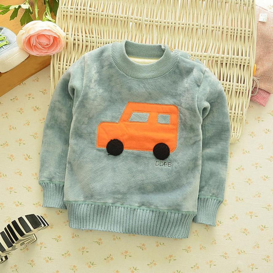 12M-4T Spring Winter pullover Sweatshirts baby clothes for Kids Baby Boys Girls fashion Long Sleeve Warm Tops T-Shirt Blouse 2017 new arrival 3pcs baby boys long sleeve t shirt tops braces trousers clothes fashion kids outfits set for 1 6y