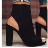 Женские туфли на высоком каблуке, Повседневные Вечерние туфли-лодочки на платформе, женские туфли с открытым носком, большие размеры 40, 41, 42, ...