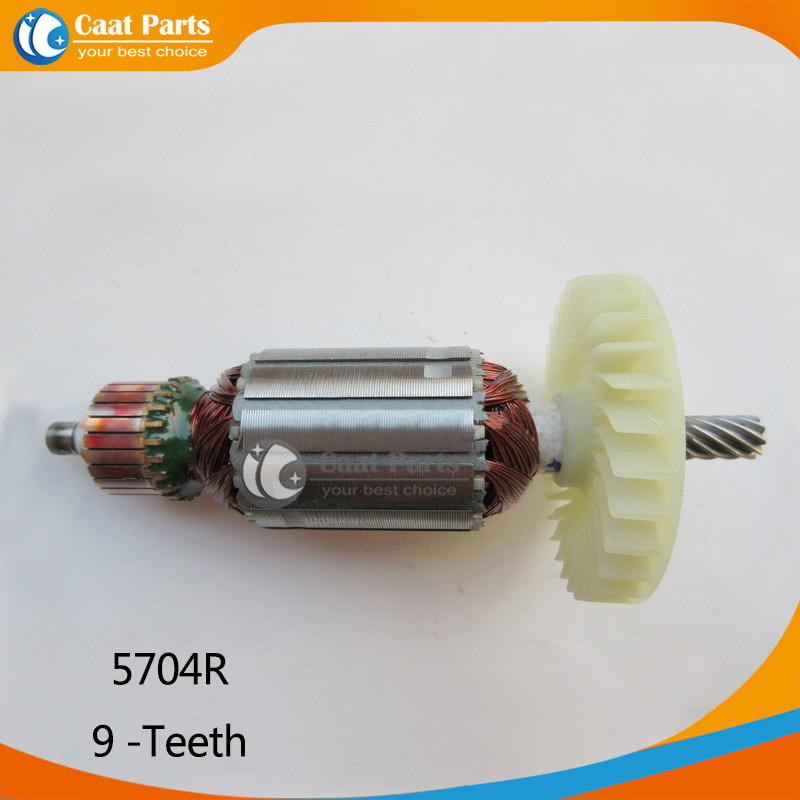 цена на Free shipping!  AC 220V 9-Teeth Drive Shaft Electric Circular saw Armature Rotor for Makita 5704R , High-quality!