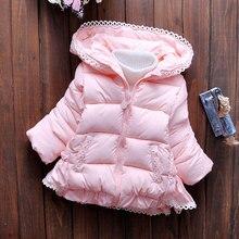 2017 новых зимней моды девушки куртки и хлопка толстый зимний женский ребенка хлопка куртки