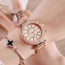 Luxury Brand Women Bracelet Watches Rose