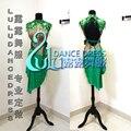 Nuevo estilo de traje de la danza latina sexy diamante vestido de baile latino para las mujeres vestido de la competencia de baile latino vestido de la danza lulu