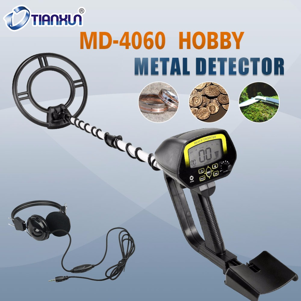 Deep Sensitive Metal Detector MD-4060 Waterproof Search Coil Gold Hunter Light Weight Underground Detector Length Adjustable aks long range underground gold detector deep search locator aks