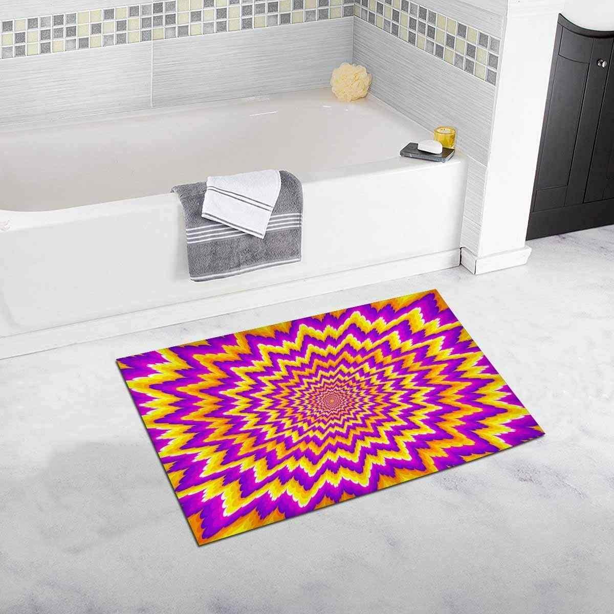 Оранжевый, фиолетовый и желтый Цветочный Коврик для ванной и коврик для ванной нескользящий