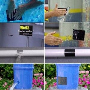 Image 3 - סופר חזק עמיד למים לעצור דליפות חותם תיקון קלטת ביצועים עצמי סיבי לתקן קלטת דבק קלטת