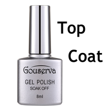 Gouserva 8ml UV Nail Gel Polish Long Lasting UV LED Nail Polish Lacquer Need UV Gel Top Coat DIY Nail Art Salon Gelpolish