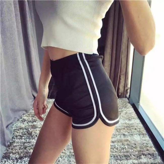 HTB1FV3GMVXXXXXjapXXq6xXFXXX6 - Glossy Shorts Slim Sexy Short Cotton Elastic High Waist Shorts For Women PTC 181
