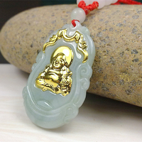 Unisex Pendant Jade Buddha Gold Jade Pendant Discount Top Quality fo Good Luck Necklaces For Women Men 2018 Fashion