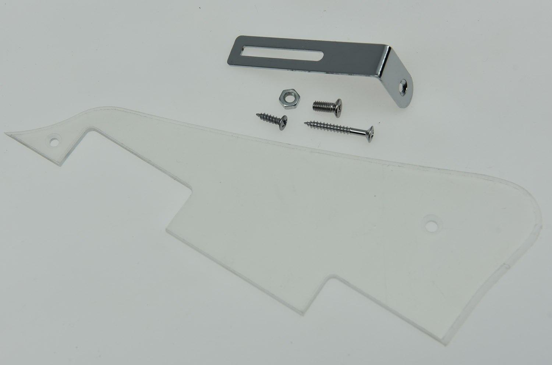 KAISH LP Transparent w Chrome Bracket Guitar Pickguard Scratch Plate