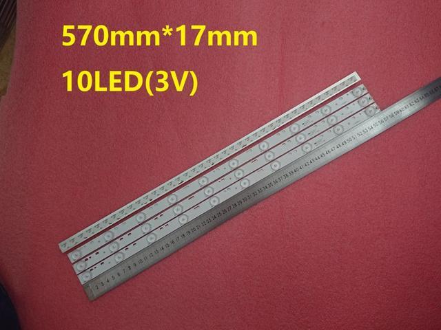 Nouveau 15 PCS/lot 10LED s * 3V 32 pouces 570mm * 17mm LED rétro-éclairage bandes optique lentille Fliter pour 32