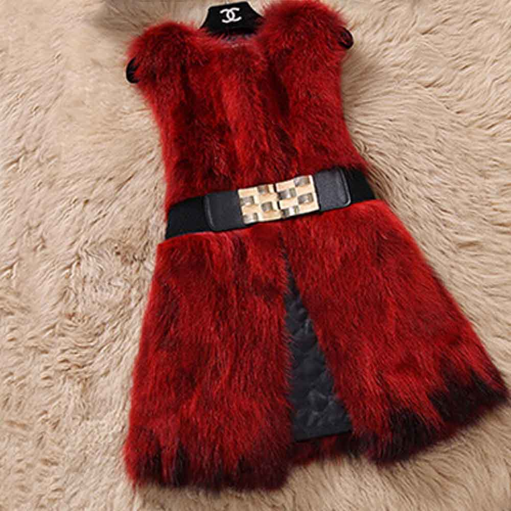 Из натурального меха серебристой лисы, жилет природа Для женщин лисий мех жилет фабрика изготовленный на заказ большие размеры, куртка из искусственного меха, TFP872 - Цвет: Burgandy