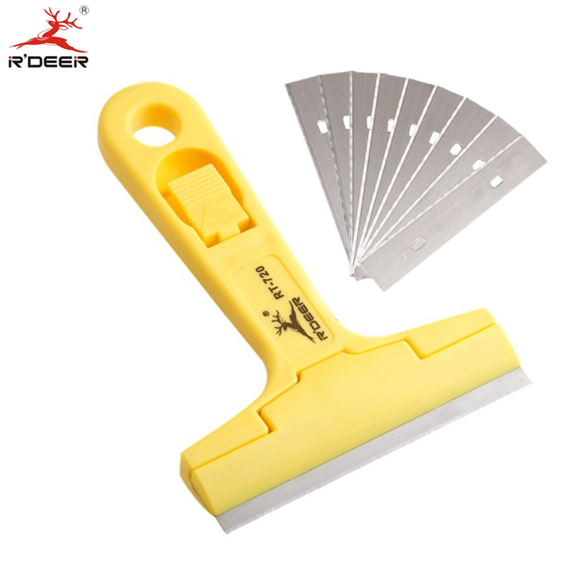 Rdeer Portable Cleaning Shovel Knife With 10pcs Sk5 Blade For Glass