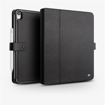 QIALINO Genuine Leather Tablet Cover for Apple iPad Pro 11 12.9 2018 Smart Wake up & Sleep Function Stand Card Slot Flip Case
